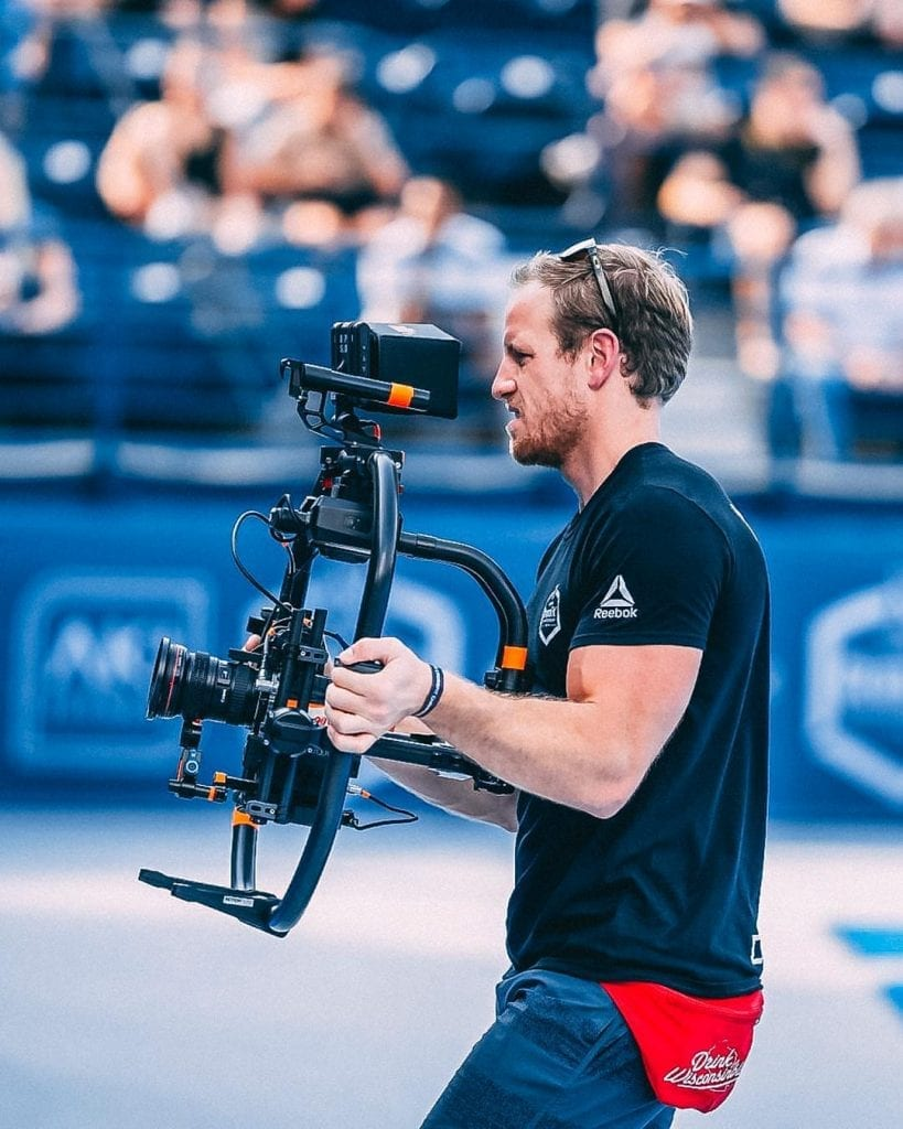Marston Sawyers joined the Froning documentary doing camera and electrical work. He moved on to direct three more films with CrossFit. Photo courtesy of Sawyer's Instagram.