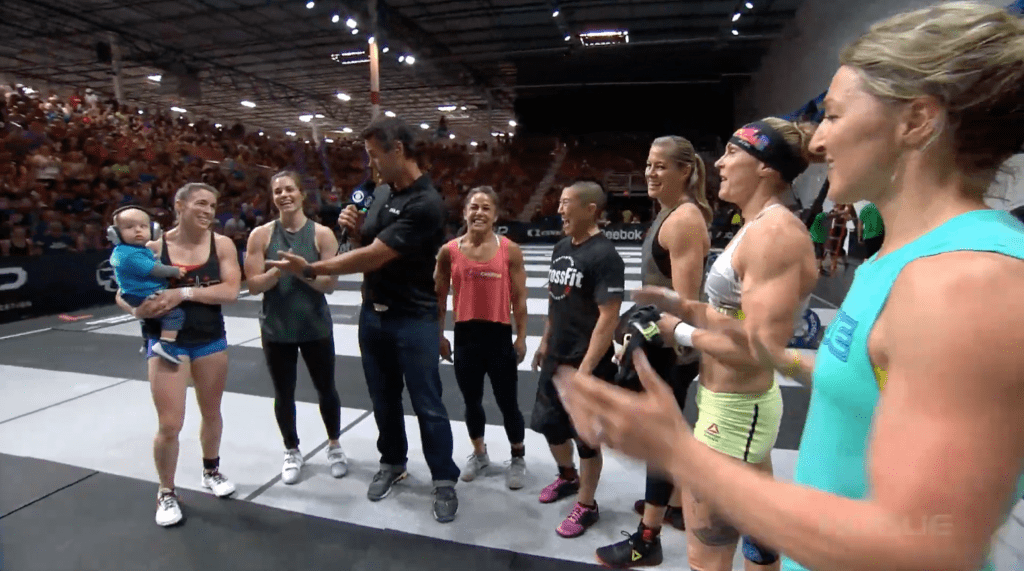 The female Legends join Rory McKernan on the floor after Amanda.