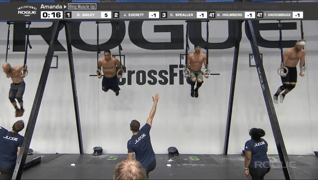 Rich Froning and Jason Khalipa are going head-to-head on the ring muscle-ups.