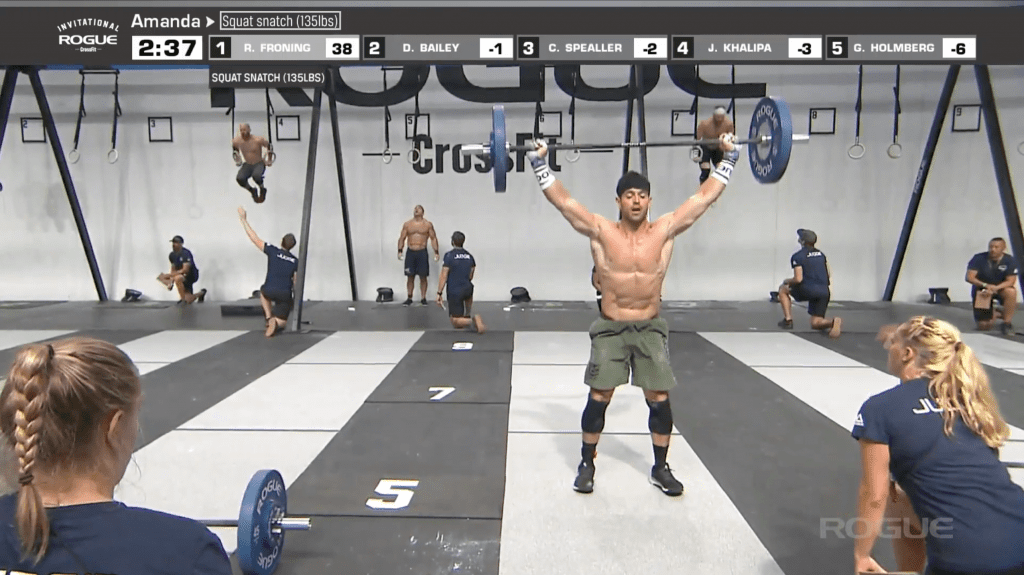 An image everyone is used to - Rich Froning well ahead of the pack. He wins the Rogue Invitational Legends Amanda event.