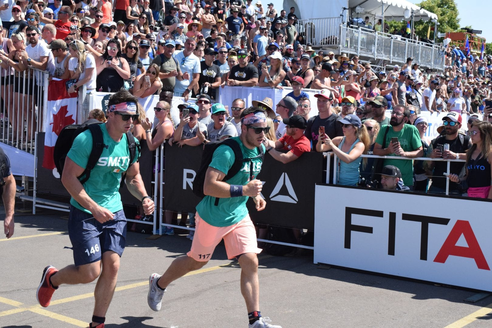 Jeffrey Adler completes the Ruck Run event at the 2019 CrossFit Games