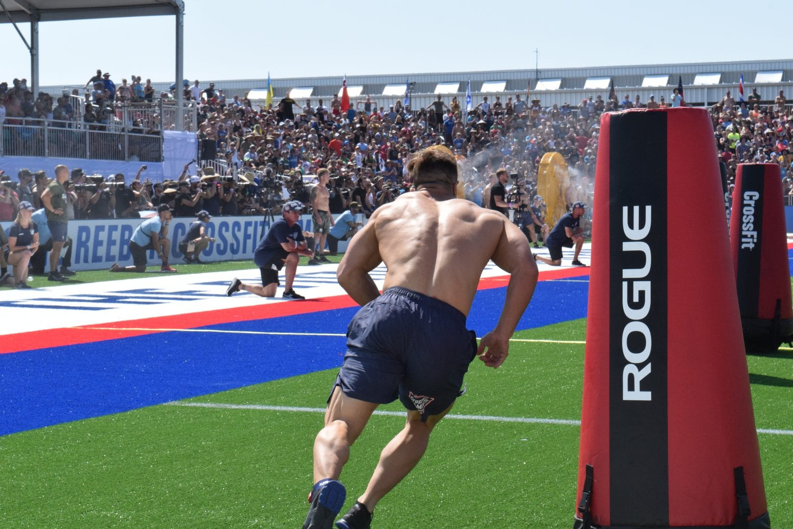 Adrian Mundwiler completes the Sprint event at the 2019 CrossFit Games.